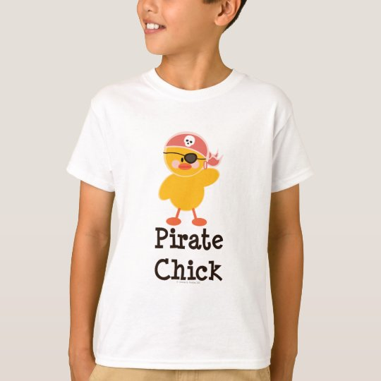 Pirate Chick Kids T shirt