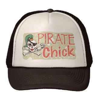 Pirate Chick Skull by Mudge Studios Cap