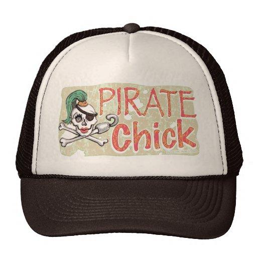 Pirate Chick Skull by Mudge Studios Trucker Hat