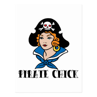 Pirate Chick Tattoo Post Cards