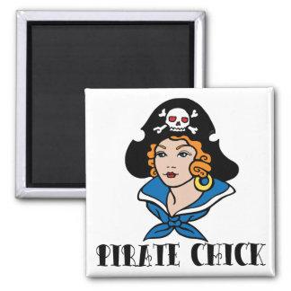 Pirate Chick Tattoo Refrigerator Magnet