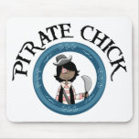 Pirate Chick With Sword Mousemat