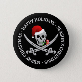 Pirate Christmas button