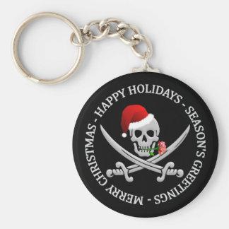 Pirate Christmas key chain