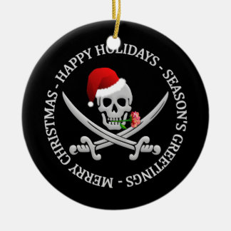 Pirate Christmas ornament - customizable