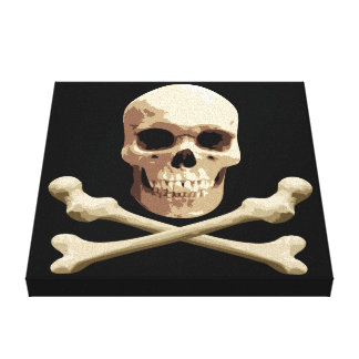Pirate Club - Skull and Crossbones Canvas Prints