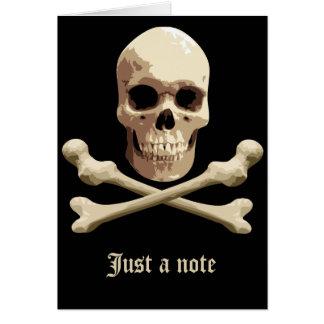 Pirate Club - Skull and Crossbones Card
