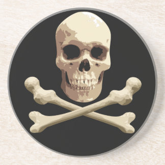 Pirate Club - Skull and Crossbones Coaster