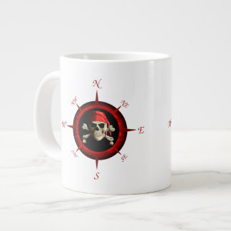 Pirate Compass Rose Large Coffee Mug