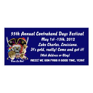Pirate Contraband Days Louisiana 30 Colors Rack Card Design