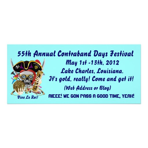 Pirate Contraband Days Louisiana 30 Colors Full Color Rack Card