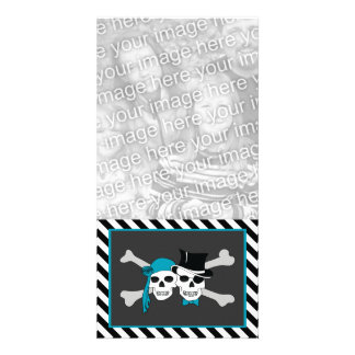 pirate couple personalized photo card