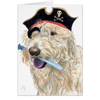 Pirate Cream Labradoodle Greeting Card