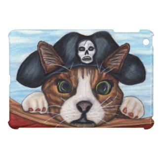 Pirate Cute Surprised Brown Striped Cat iPad Mini Cover