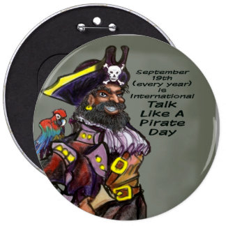 Pirate Day 6 Cm Round Badge