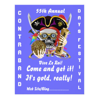 Pirate Days Lake Charles, Louisiana. 30 Colors 21.5 Cm X 28 Cm Flyer