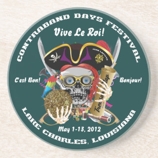 Pirate Days Lake Charles, Louisiana. 30 Colors Beverage Coaster
