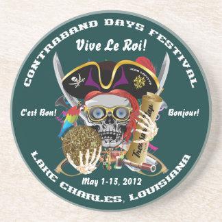 Pirate Days Lake Charles, Louisiana. 30 Colors Beverage Coaster