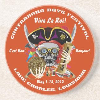 Pirate Days Lake Charles, Louisiana. 30 Colors Drink Coasters
