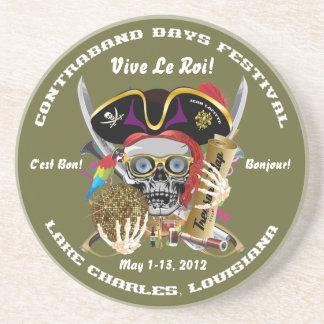 Pirate Days Lake Charles, Louisiana. 30 Colors Drink Coaster