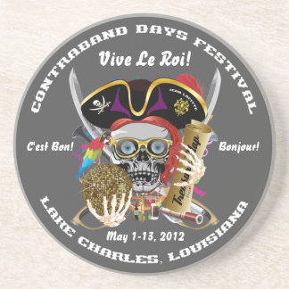 Pirate Days Lake Charles, Louisiana. 30 Colors Drink Coaster