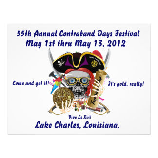 Pirate Days Lake Charles Louisiana 30 Colors Flyer