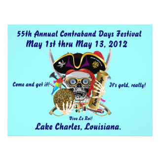 Pirate Days Lake Charles, Louisiana. 30 Colors Flyer