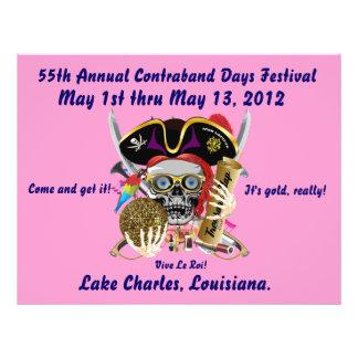 Pirate Days Lake Charles, Louisiana. 30 Colors Custom Flyer