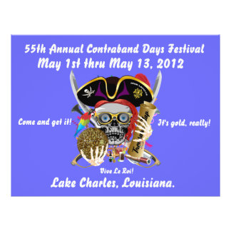Pirate Days Lake Charles, Louisiana. 30 Colors Flyer Design