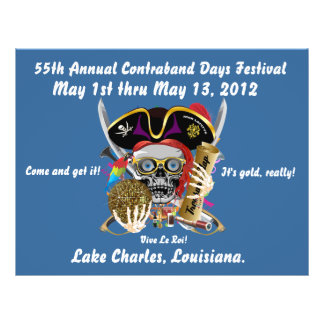 Pirate Days Lake Charles, Louisiana. 30 Colors Full Color Flyer