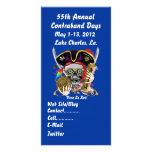 Pirate Days Lake Charles, Louisiana. 30 Colours Personalized Photo Card