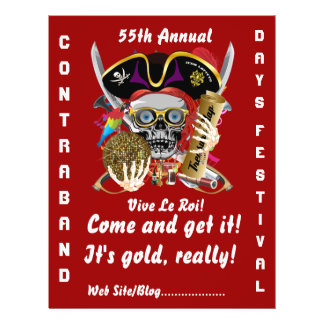 Pirate Days Lake Charles, Louisiana. 50 Colors Personalized Flyer
