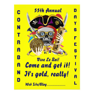 Pirate Days Lake Charles, Louisiana. 50 Colors Flyer Design