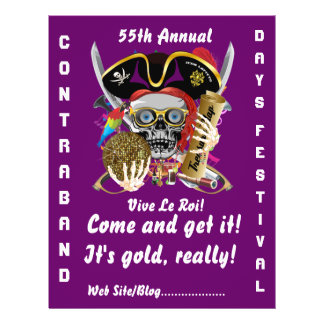 Pirate Days Lake Charles, Louisiana. 50 Colors Flyers