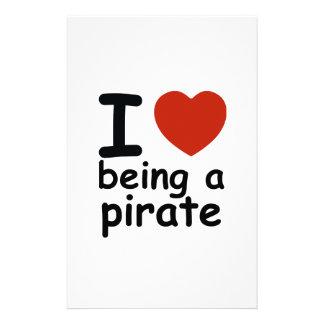 pirate design stationery