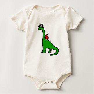 Pirate Dinosaur - Brachiosaurus Baby Bodysuit