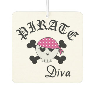 Pirate Diva Car Air Freshener
