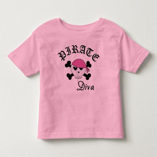 Pirate Diva Toddler T-Shirt