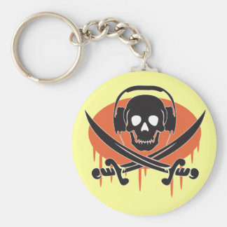 Pirate DJ Key Ring