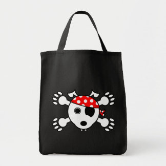 Pirate Dog Grocery Tote Bag
