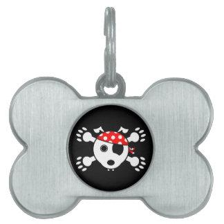 Pirate Dog Pet Name Tags