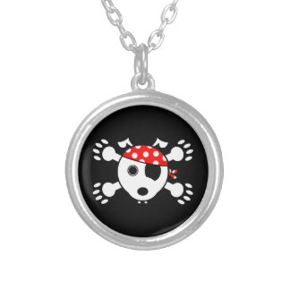 Pirate Dog Silver Plated Necklace