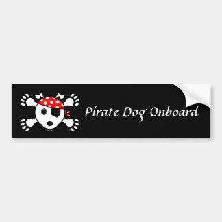 Pirate Dog (Singular) Bumper Sticker
