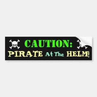 Pirate Driver Bumper Sticker