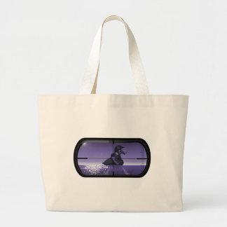 Pirate Duck Torpedoed Large Tote Bag