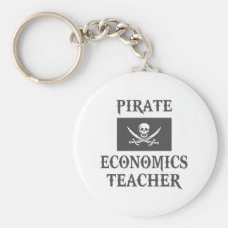 Pirate Economics Teacher Keychains