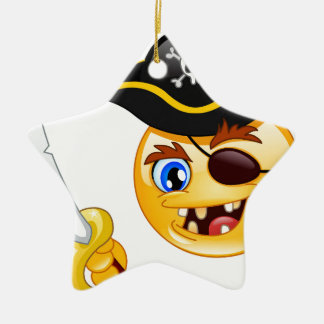 pirate emoji christmas ornament