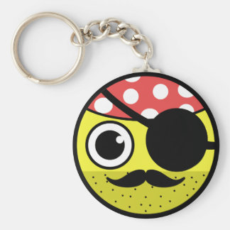Pirate Face Key Ring