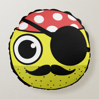 Pirate Face Round Cushion