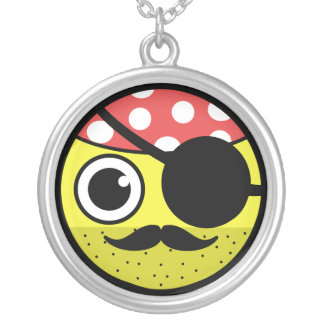 Pirate Face Silver Plated Necklace